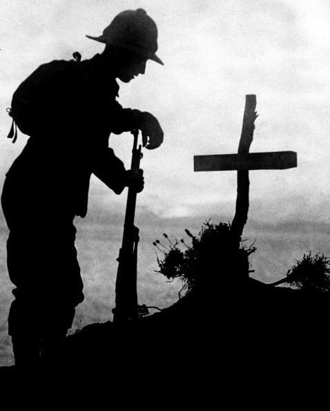 gun at the cross